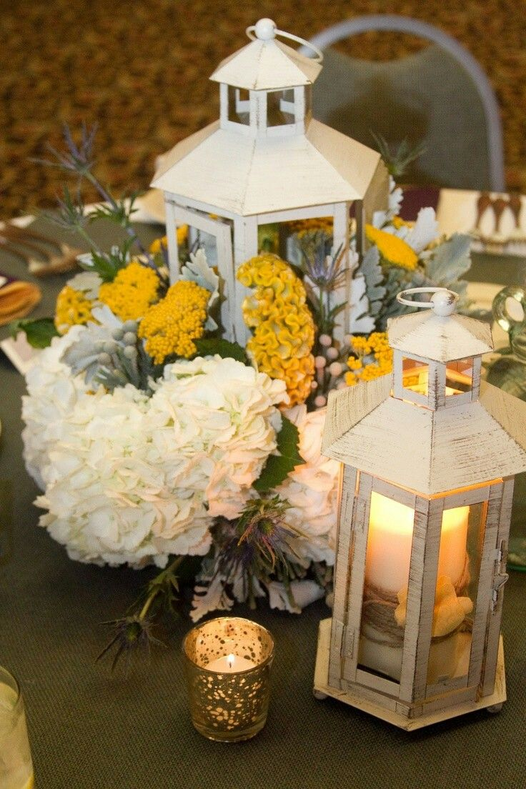 Wedding decorations yellow and gray  Pin by Thuy Do on Lanterns  Pinterest