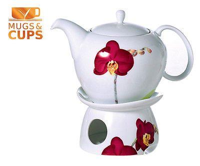 Teekanne Porzellan Mit Stövchen cha cult liliana teekanne stövchen porzellan 1 0l kanne inkl cha