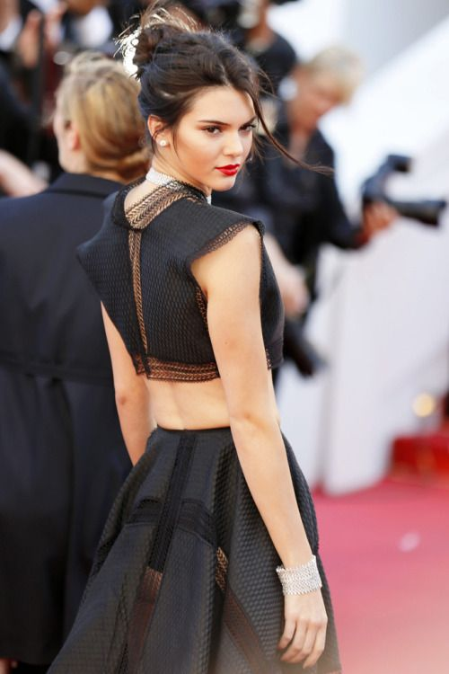 "Cannes 2015 Red Carpet ""Moments to Remember"": Kendall Jenner in Alaia."