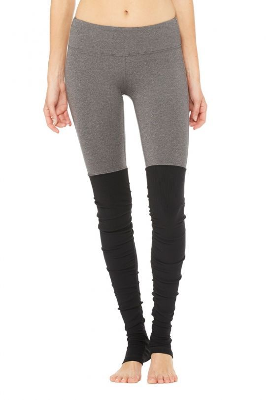 89298a907a Alo Yoga - Goddess Ribbed Legging - Stormy-Heather-Black-1 | Yoga ...