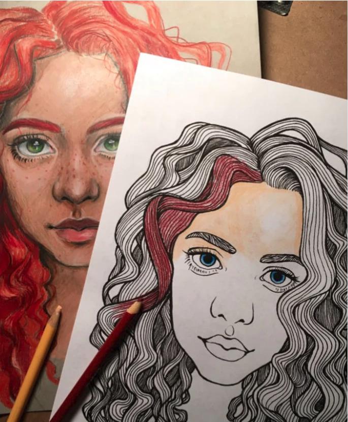 Drawing Coloring Skills Portraits