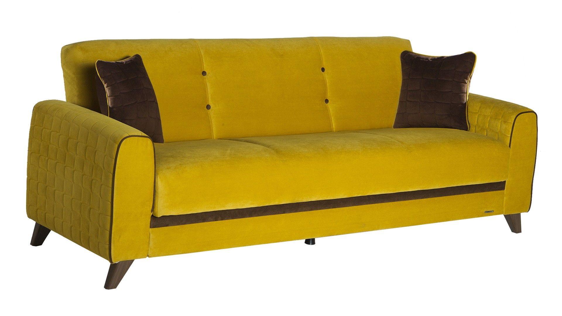 Sunset Fabio Sofa Yellow