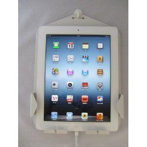 Amazon.co.jp: iPad 壁掛けホルダー 充電 収納 コネクタホールド付 【特許取得済】 日本製 iClover ホワイト: パソコン・周辺機器