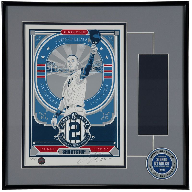 Derek Jeter New York Yankees Retirement Seriograph Ticket Frame ...