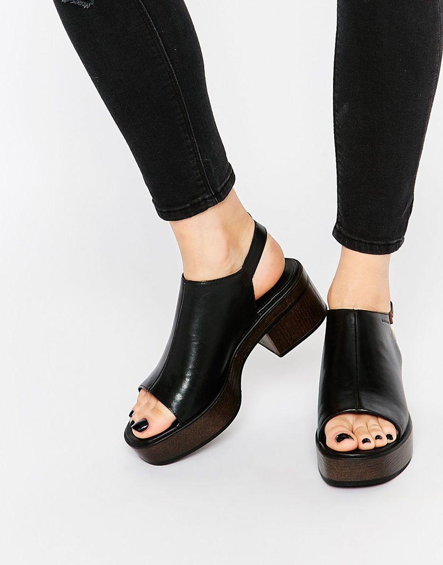Black vagabond sandals - Image 1 Of Vagabond Noor Black Leather Sandals