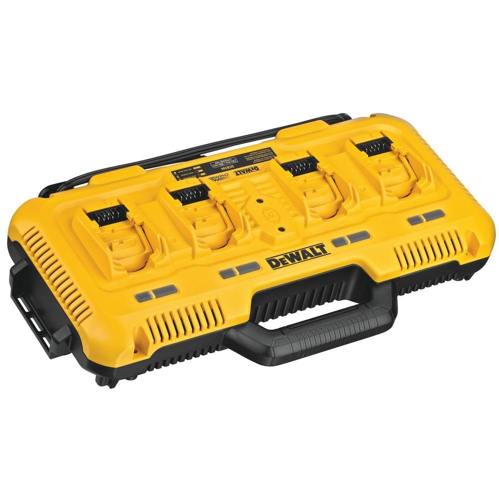 Dewalt 12 Volt 20 Volt 60 Volt Max 4 Port Lithium Ion Battery Charger Dcb104 The Home Depot In 2020 Dewalt Power Tool Batteries Dewalt Tools