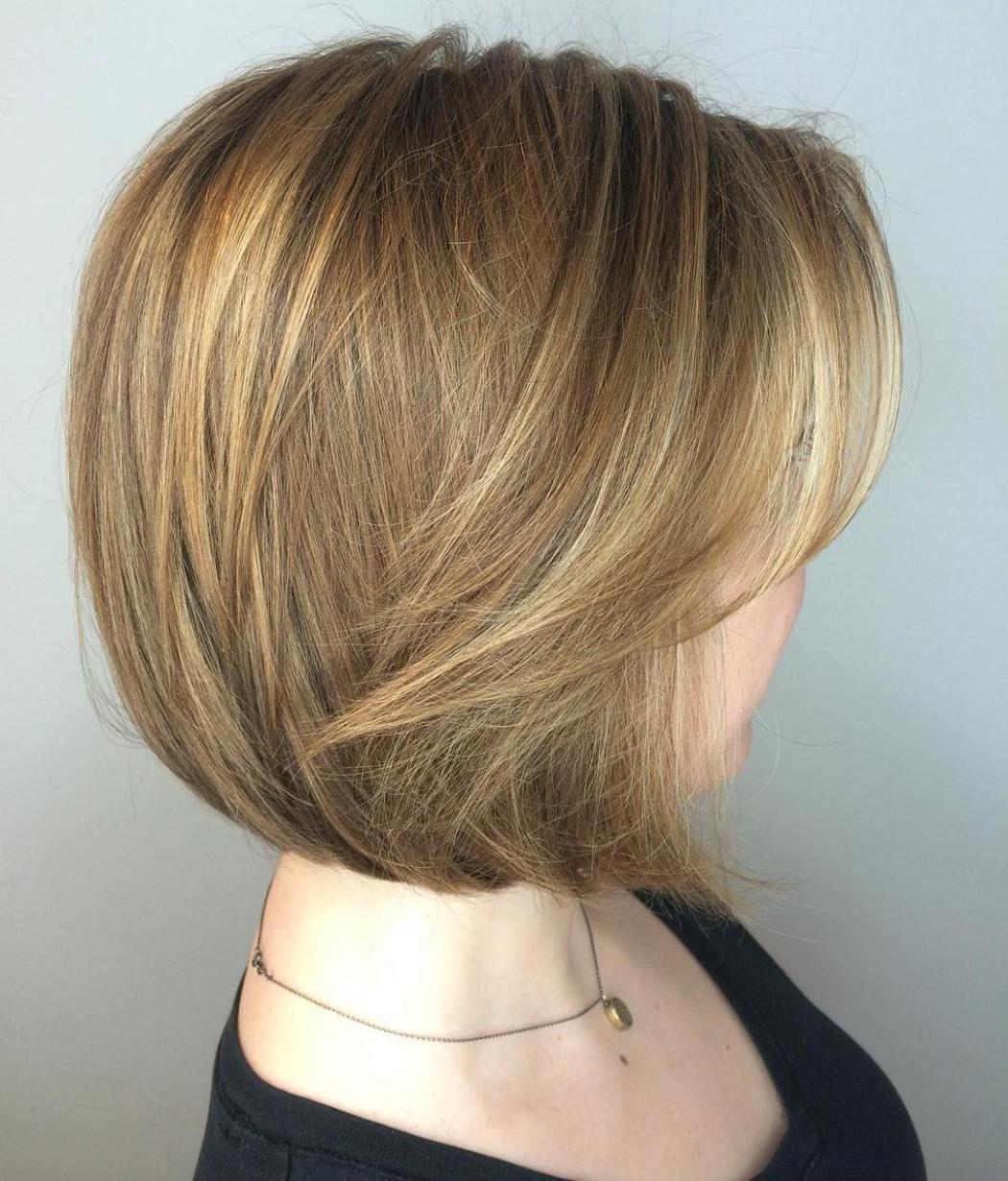 winning looks with bob haircuts for fine hair light brown bob