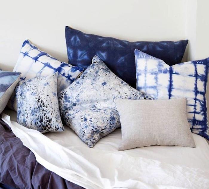 indigo modern mint shiboripillow shibori mmh pillows home pillow