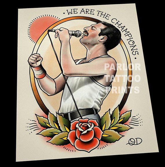 Private Queen Tattoo Freddie Mercury Tattoo Flash Art