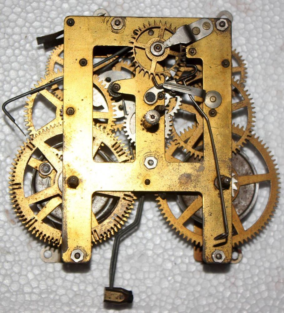 Antique Clock Movement For Parts Waight