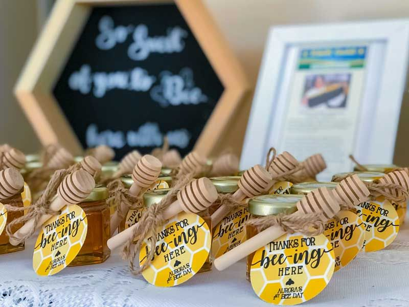 Honey Jar Party Favors For Anniveraries Bar Mitzvahs Birthday S Sweet 16 Bee Birthday Party Bee Themed Birthday Party Honey Bee Baby Shower