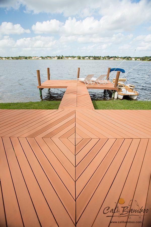 beautiful lake dock design idea in florida built with low maintenance cali bamboo bamdeck - Dock Design Ideas