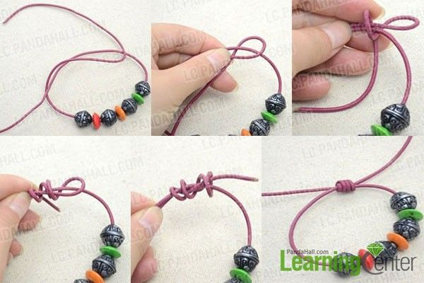 Make Sliding Knots Leather Bracelet Tutorial Bracelet Crafts