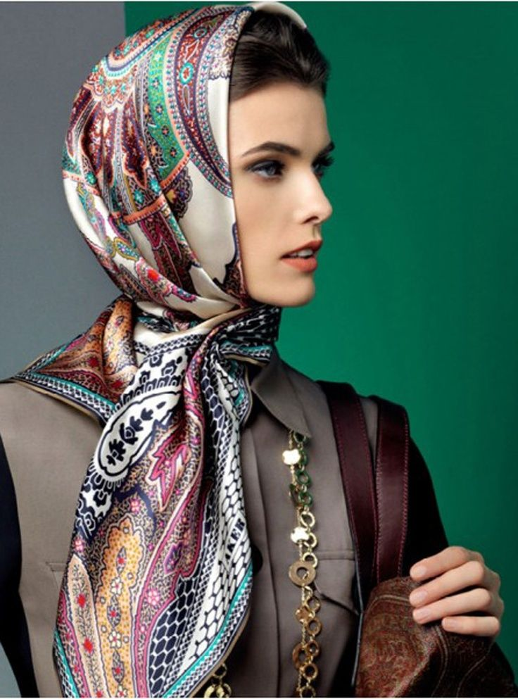Pin by Mary Castellanos on fashion Silk headscarf, Scarf