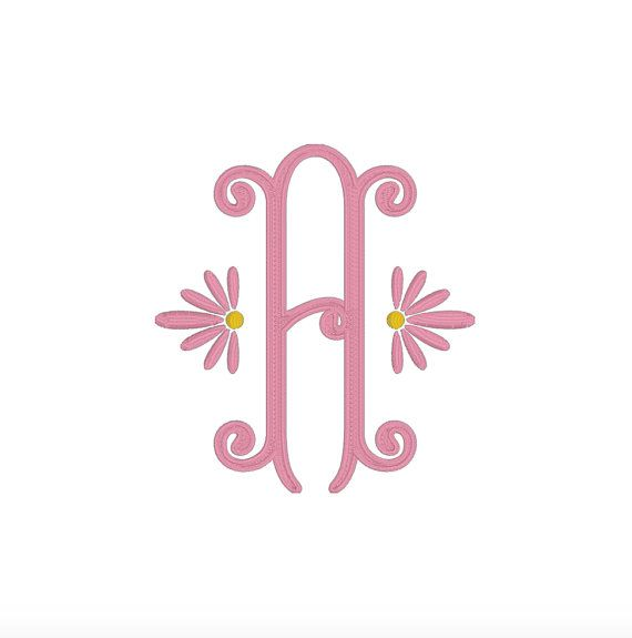 Jane Monogram Embroidery Font 3.5 inch by MonogramMaison on Etsy