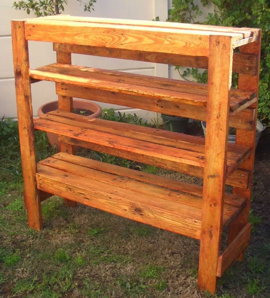 Made by Second Hand & Home Made Delights Rustic Shelf 100 x 30 x 78cm high