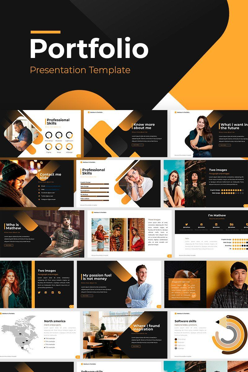 Portfolio Powerpoint Template 86827 Powerpoint Presentation Design Presentation Design Layout Portfolio Template Design