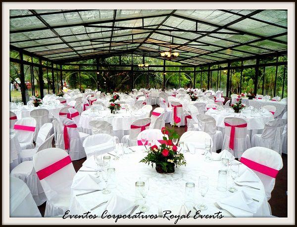 boda en blanco y fucsia #catering | montajes | pinterest | boda