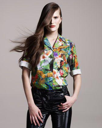 Altuzarra palm-print blouse