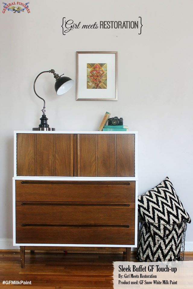 Here's simple yet beautiful look from Girl Meets Restoration, http://girlmeetsrestoration.blogspot.com/.  She used General Finishes Snow White Milk Paint around the frame of this dresser. We'd love to see your GF projects.  Share with us through our facebook page, pinterest or instagram.  Just use #generalfinishes.  #gfmilkpaint #getthelook