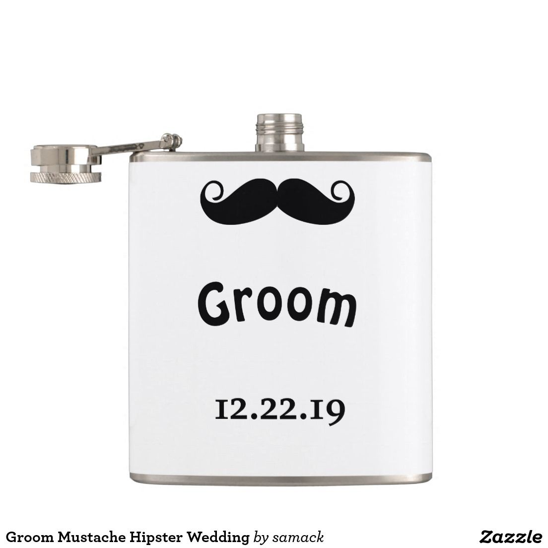 Groom Mustache Hipster Wedding Flask Hipster Wedding Grooms And