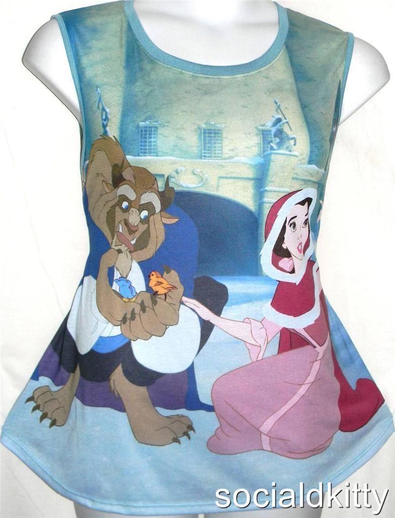 Xxbeauty and the beastdisneymoviesnowprincesstank topshirt