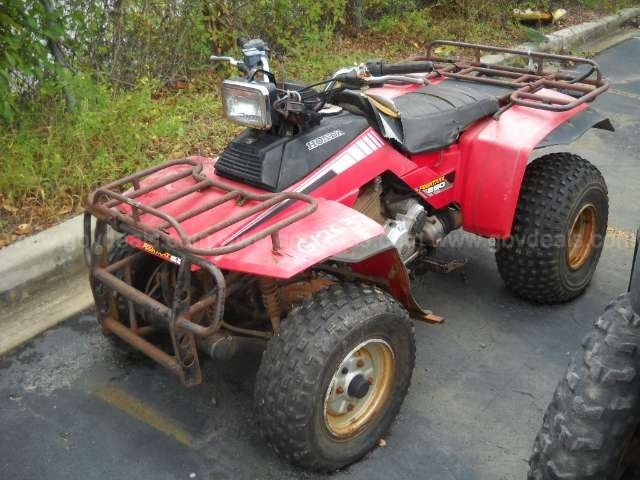 1985 Honda Fourtrax 250 2wd Atv Govdeals Com Honda Atv Hot Rods Cars Muscle