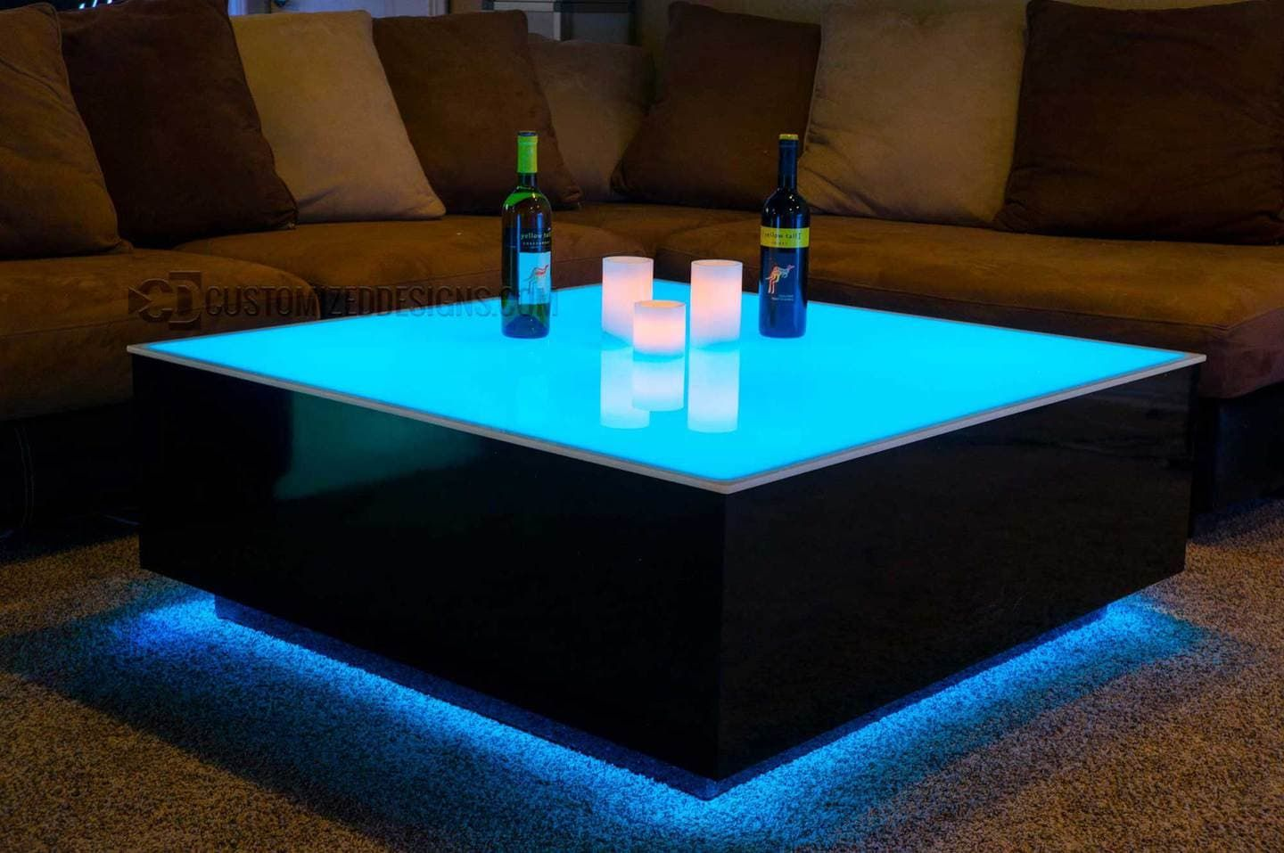 Cubix Series 44 X 44 Led Lighted Coffee Table Lounge Furniture Coffee Table Led Diy Cube Light [ 957 x 1440 Pixel ]