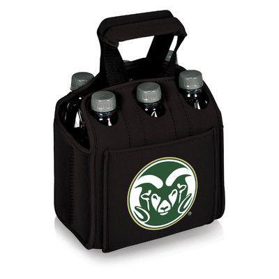 Picnic Time NCAA Beverage Buddy Picnic Cooler Color: Black, NCAA Team: Colorado State