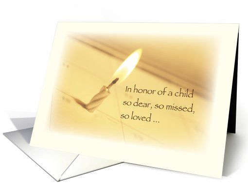 Honoring in remembrance on birthday child death card