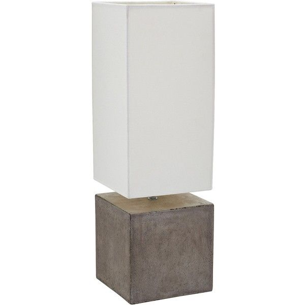 Dimond Cubix Square Gray Wax Concrete Table Lamp ($238) ❤ Liked On Polyvore  Featuring