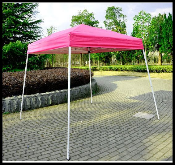 Pop Up Canopy Shelter Outdoor Tent 8x8 Patio Backyard Shade Pink Square  Steel US $119.27#