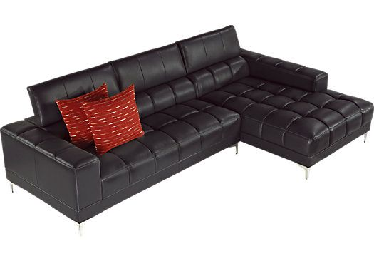 For A Sofia Vergara Sybella Black Cherry 2 Pc Sectional At Rooms To Go Find Leather Living That Will Look Great In Your Home And Complement The