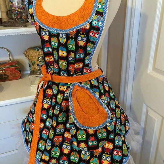 Hey, I found this really awesome Etsy listing at https://www.etsy.com/listing/218784953/funky-owls-womans-apron