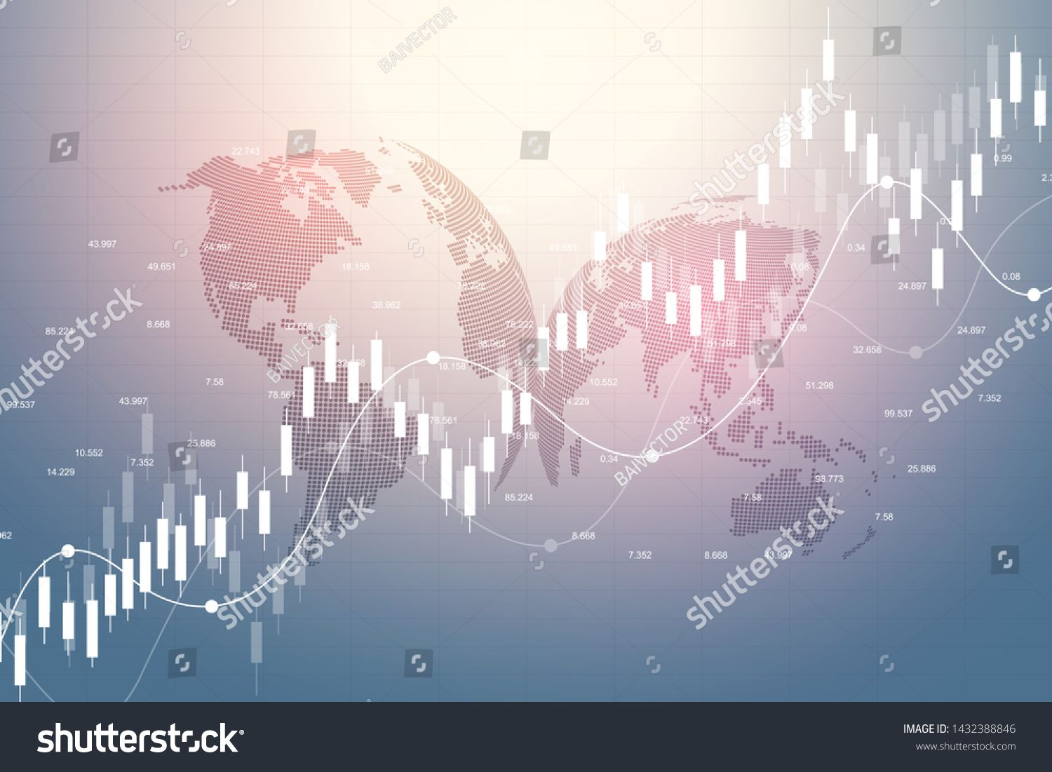 Stock Market Graph Or Forex Trading Chart For Business And