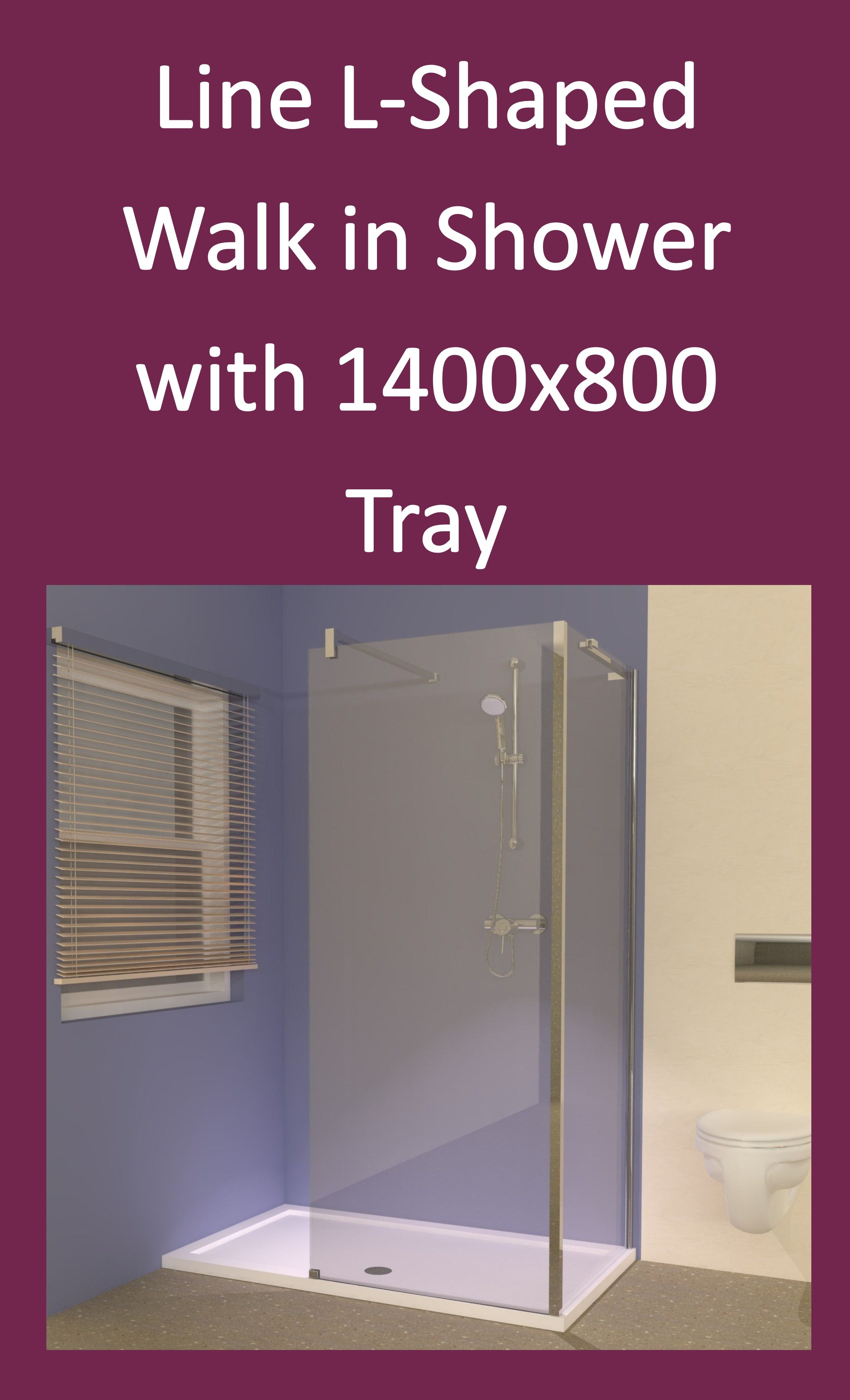 Line L-Shaped Walk in Shower with 1400 x 800 Tray from eBay: http ...