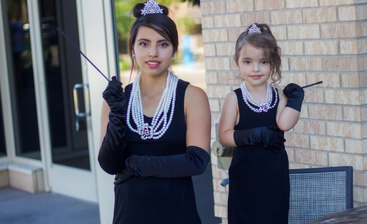 Sammiescub And Her Mini Audrey Looking Just Darling In Our Matching Mommy And Me Holly Complete Costume Aud Black Cotton Dresses Dress Attire Easy Wear