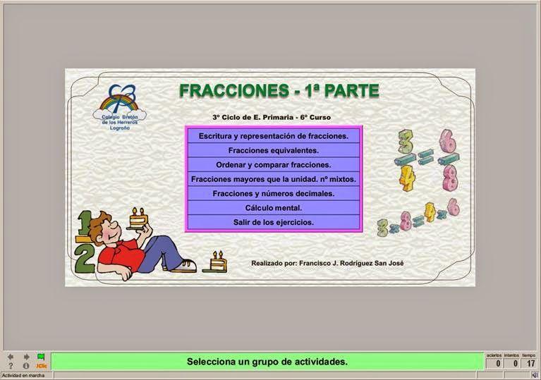 Colegio José Calderón Matemáticas 3º Ciclo Números Y Operaciones Fracciones Blog Educativo Material Educativo