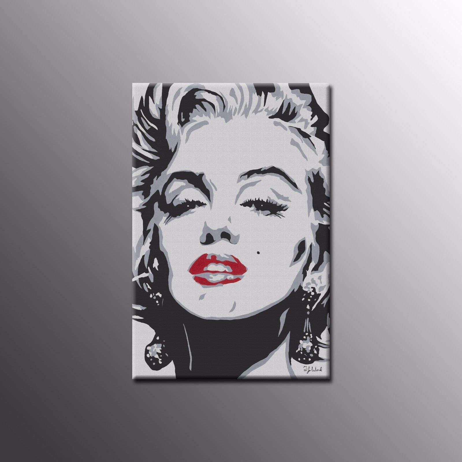 Canvas Print Marilyn Monroe Red Lips Wall Art Canvas Painting For