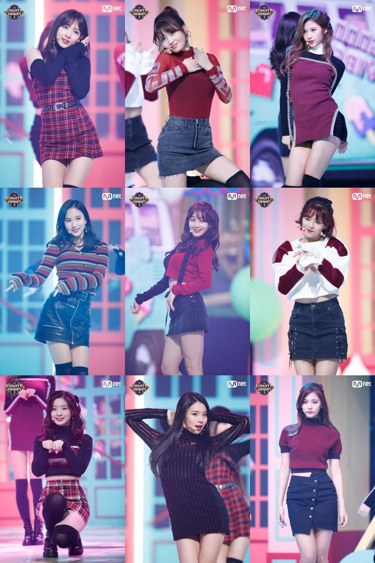 TWICE #LIKEY : They look like 5 fresh apple, I Luv Their outfit