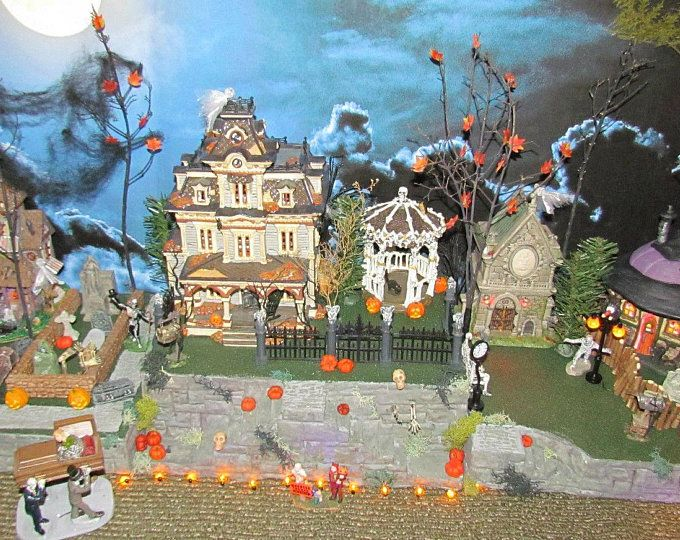 Your place to buy and sell all things handmade #halloweenvillagedisplay