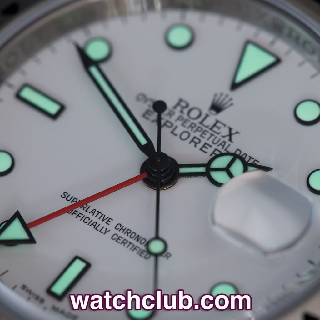 """Rolex Explorer II White Dial """"Calibre 3186"""" REF: 16570   Year Jan 2013 - Only 1 year old! Featuring the rare sought-after calibre 3186 movement and rehaut engraved inner bezel, this """"final batch"""" white dial Explorer II ref 16570 is no longer in production. In exceptional unworn condition, complete with Rolex box, instructions and certificate. Waterproof to 100m and guaranteed for 2 years - for sale at Watch Club, 28 Old Bond Street, Mayfair, London"""