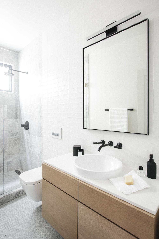 Bathroom with black details | bathrooms | Pinterest | Modern ...