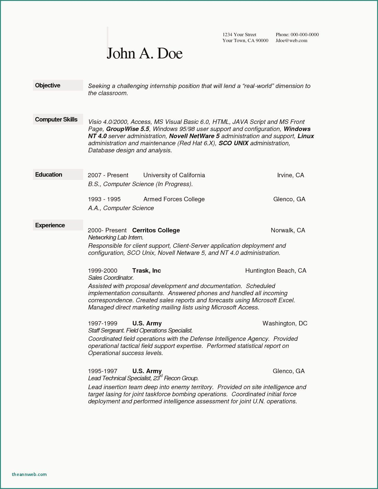 Where To Put Internship On Resume Beautiful Beautiful Where To Put Internship Resume In 2020 Resume Skills Resume Examples Internship Resume