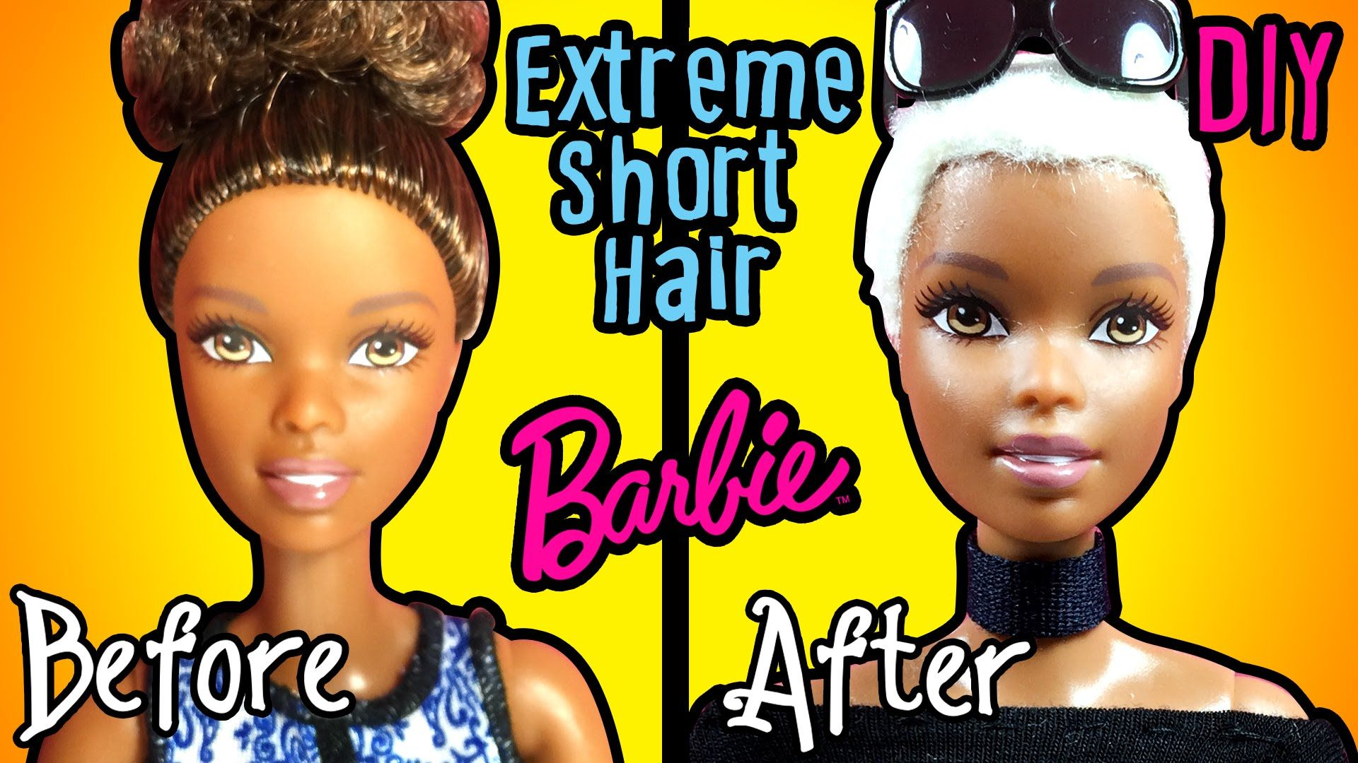 Barbie Hairstyles Gorgeous How To Cut Extreme Short Haircut For Barbie Doll  Diy Doll Hair