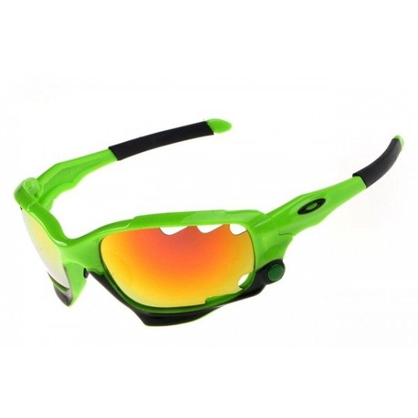 oakley racing jacket sunglasses green fire iridium oakley rh pinterest com