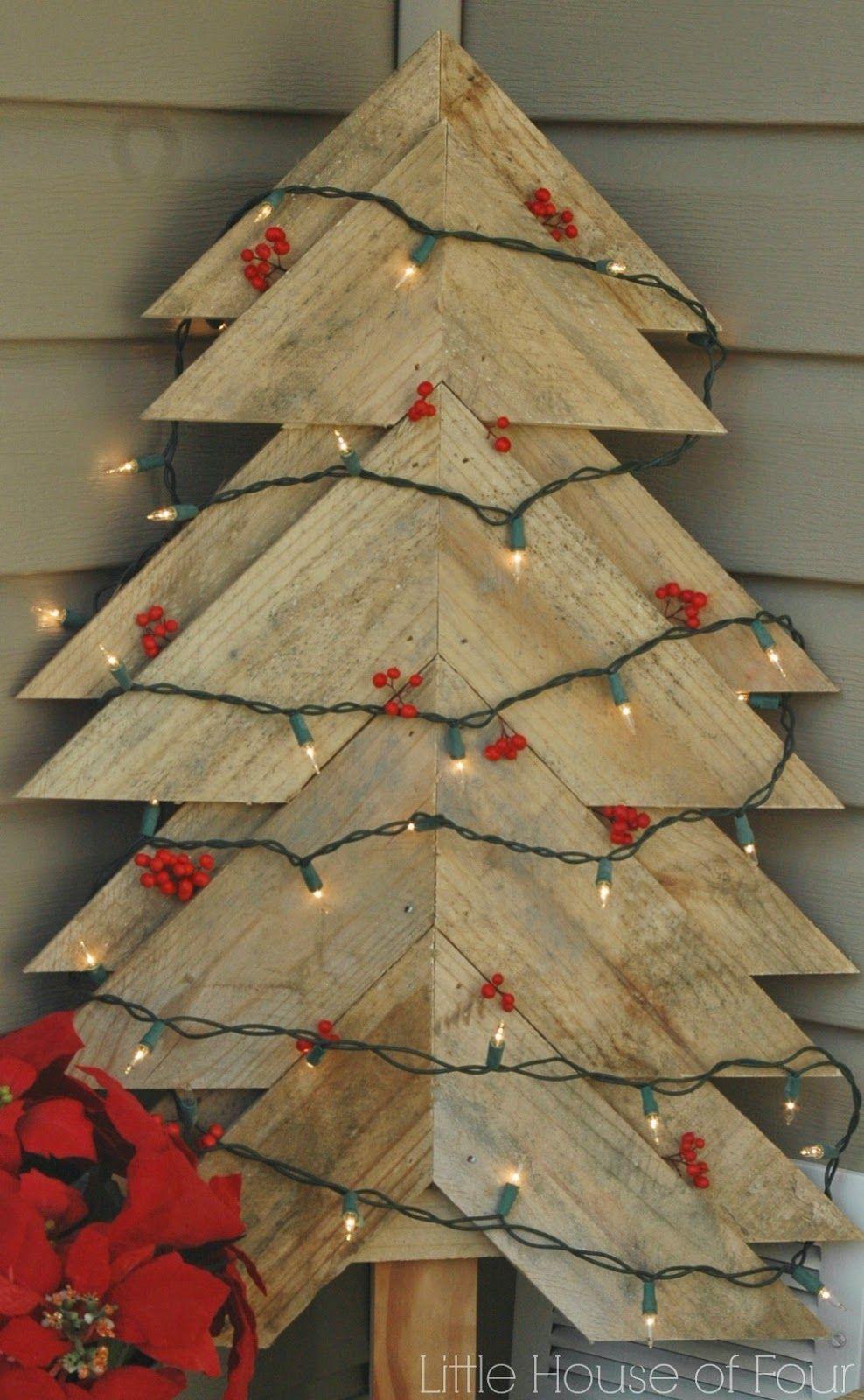Amazing Diy Pallet Christmas Tree Ideas & Crafts