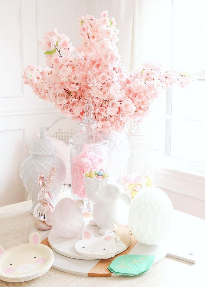 Pink Faux Cherry Blossom Flower Branch 40 Cherry Blossom Flowers Flower Branch Blossom Flower
