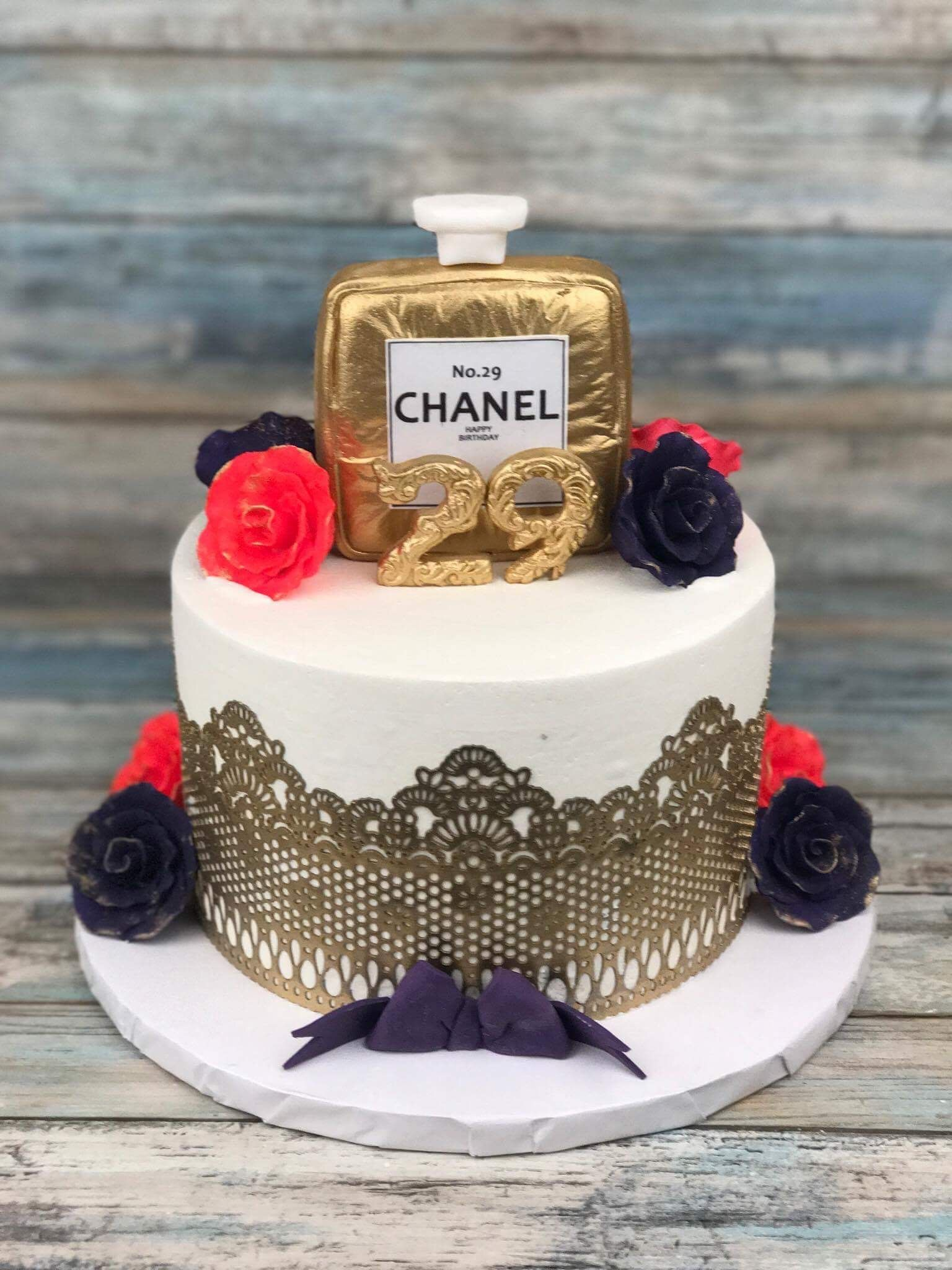 Marvelous My Chanel Birthday Cake Chanel Birthday Cake 29Th Birthday Personalised Birthday Cards Arneslily Jamesorg