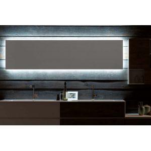 Specchio e specchiera bagno retroilluminato con LED perimetrali Filo ...